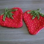 Häkel-Topflappen Erdbeeren