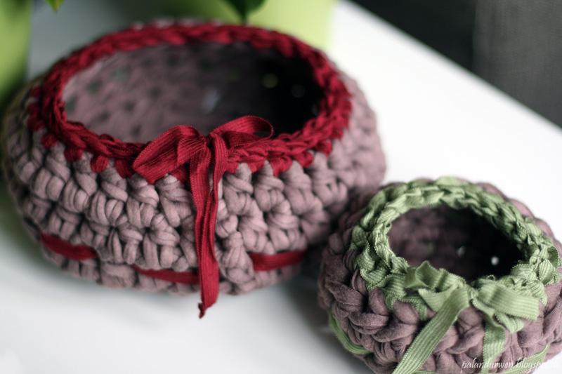 Häkel-Körbe aus Textilgarn