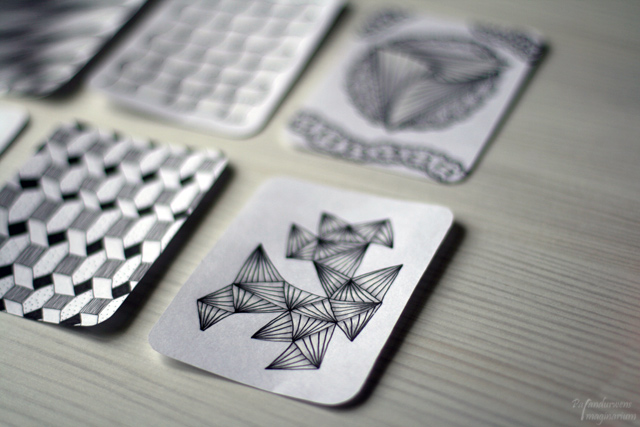 Zentangle Project Life Cards