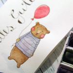 Geburtstagskarte Aquarell-Bär