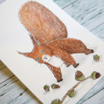 Aquarell Eichhörnchen