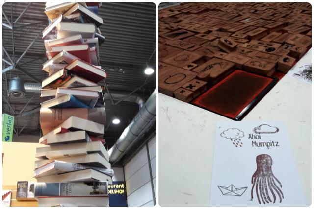 So viele Bücher - aber wirklich begeistert hat eher der Stand einer Hochschule, an der man aus einer Menge Stempeln eigene Karten stempeln konnte. Sowas könnte doch ein Geschäftsmodell werden...