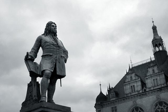 Georg Friedrich Händel - geboren in Halle - wacht noch immer über die Saalestadt.