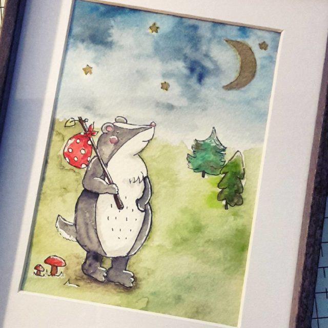 Little badger has got wanderlust Im Blog zeig ich euchhellip