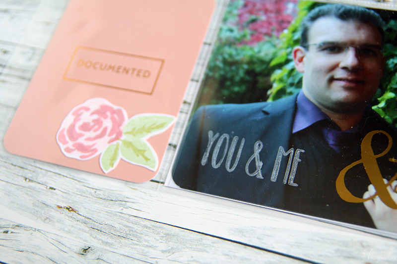 """You & Me"" - gestempelt mit Brilliance Moonlight White & Papierprojekt Momentstempel"
